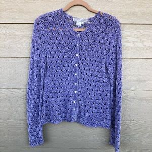 Cozy Cardigan Purple (M) Lucia Burns